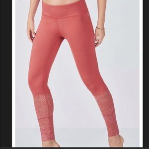 Fabletics pink lace yoga pants